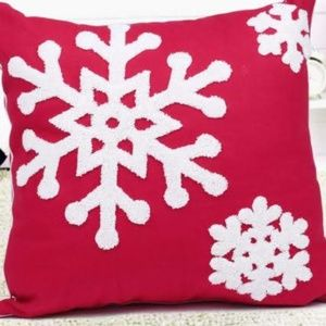 Other - Pillow Cover- NEW- Christmas Snowflake Winter